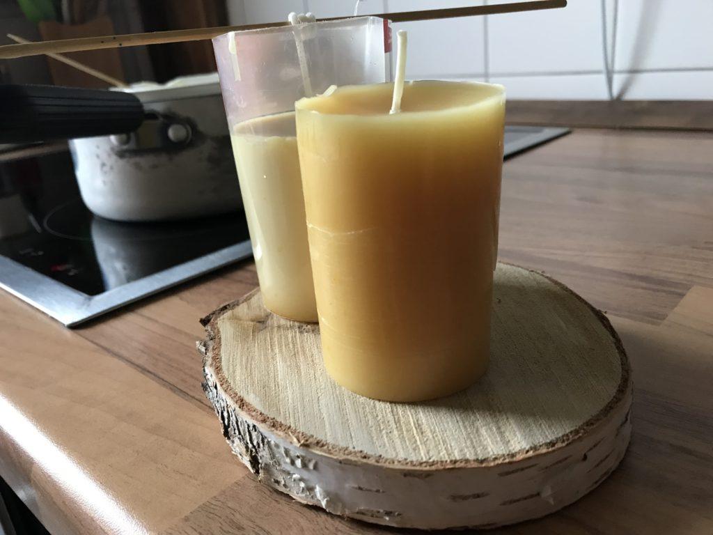 Kerzen gießen aus Bienenwachs, Adventskerzen selber machen